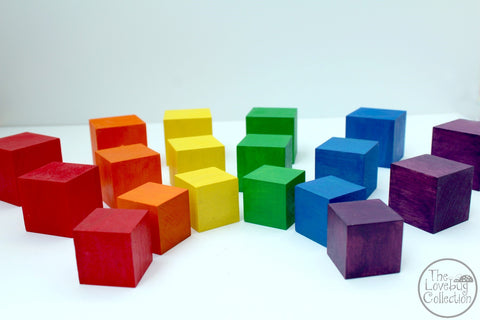 Rainbow Blocks - Set of 6 - Available in 3 Sizes