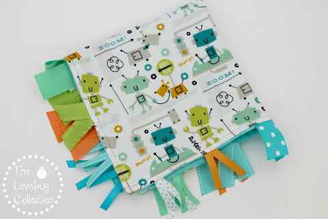 City Robots Ribbon Blanket