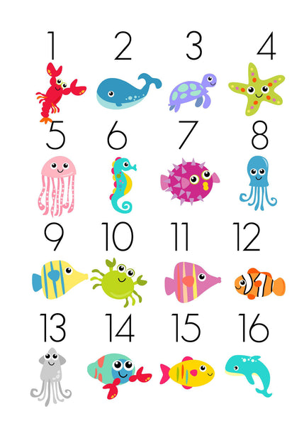 Ocean TicTacToe Game Set - 16 Image Choices