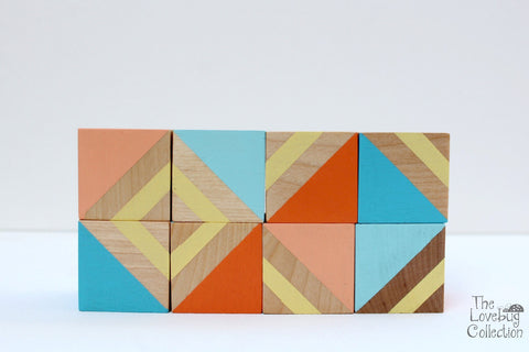 Tropical Breeze Wood Blocks Set