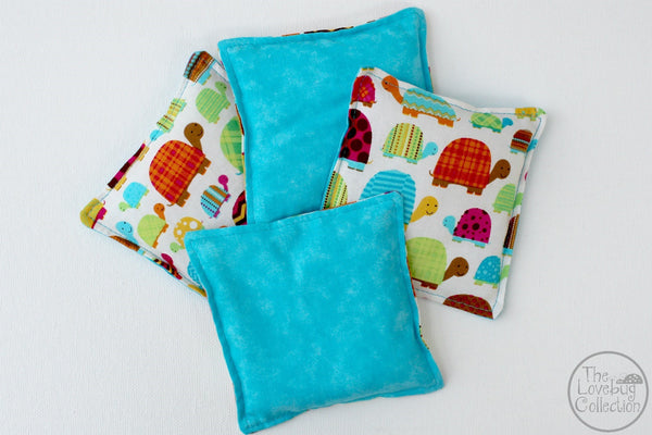 Bright Turtles Bean Bag Set