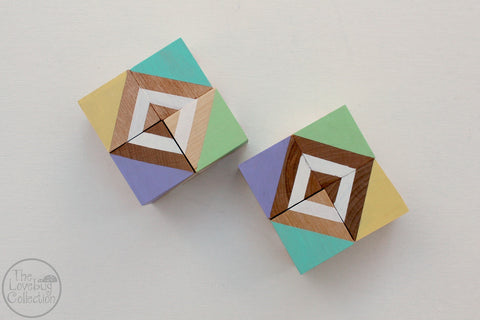 Spring Fling Wood Blocks Set