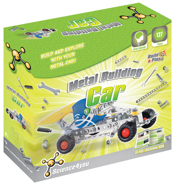 Metal Building Car Educational Kit front side