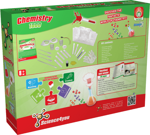 Science Kit for Kids Chemistry 1000 back side