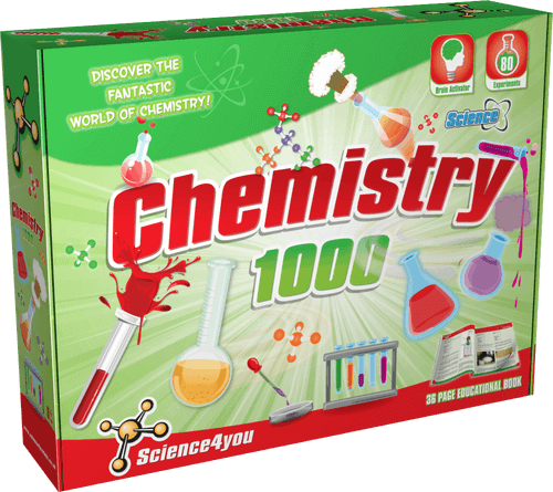 Science Kit for Kids Chemistry 1000 front side