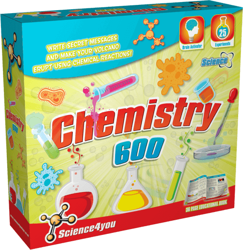 Science Kit for Kids Chemistry 600 front side