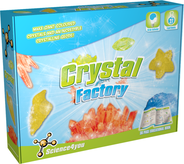 Crystal Factory Scientific toy front side