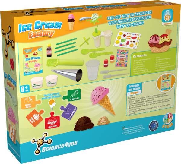 Ice Cream Factory Educational Toy back side