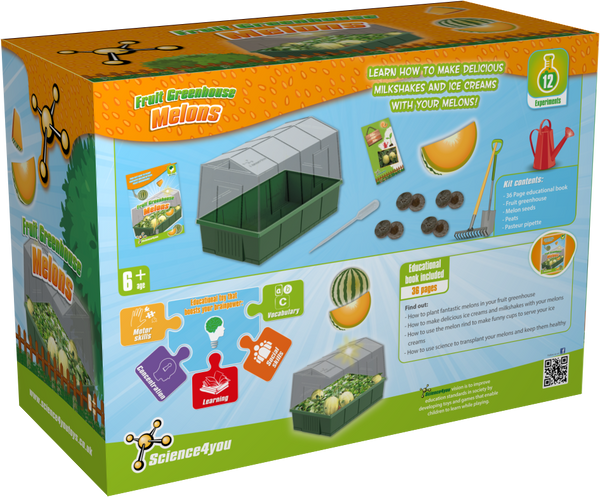 Melons Greenhouse Educational Kit back side