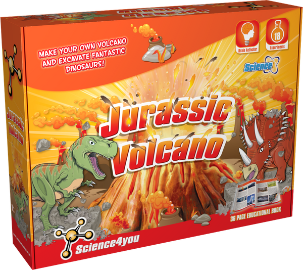 Jurassic Volcano Educational Kit front side