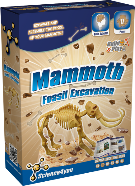Fossil Excavation Mammoth Educational Toy front side