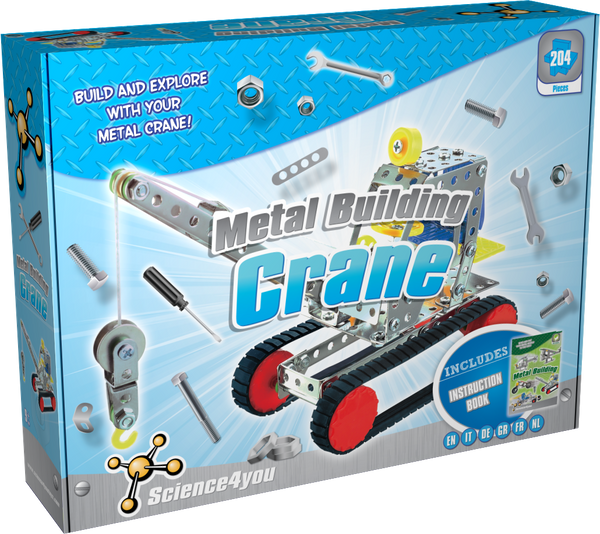 Metal Building Crane Educational Kit front side