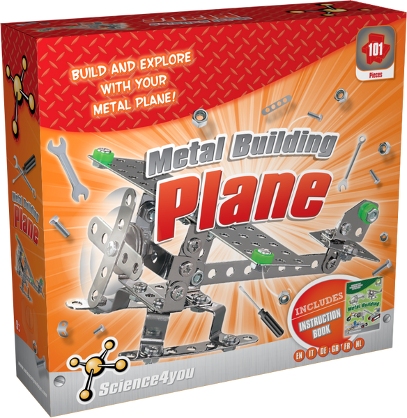Metal Building Plane Educational Kit front side