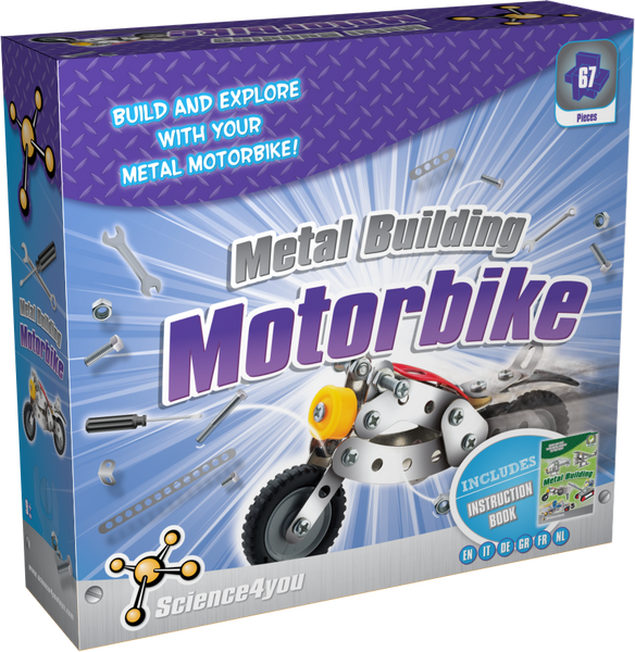 Metal Building Motorbike Educational Kit front side
