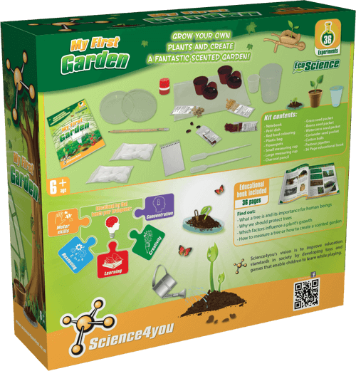 Good ... My First Garden Educational Kit For Kids Back Side ...
