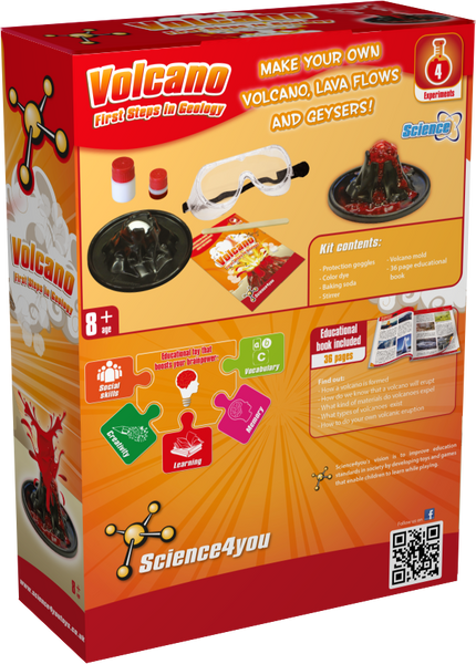 Volcano: First Steps in Geology Educational Toy back side