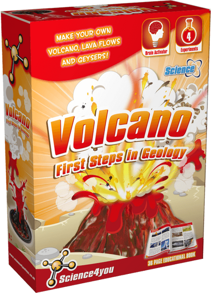Volcano: First Steps in Geology Educational Toy front side