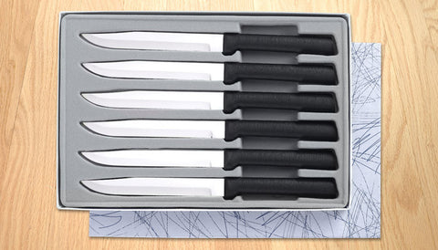 Rada Cutlery Utility Steak Knife Gift Set G206 Black SSR Handle