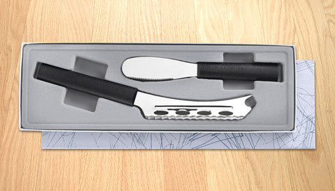 Rada Cutlery Cheese & Party Spreader Gift Set G239 Black SSR Handle