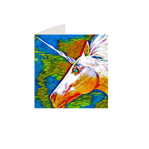 Unicorn Notecard and matching envelope by DefiAye
