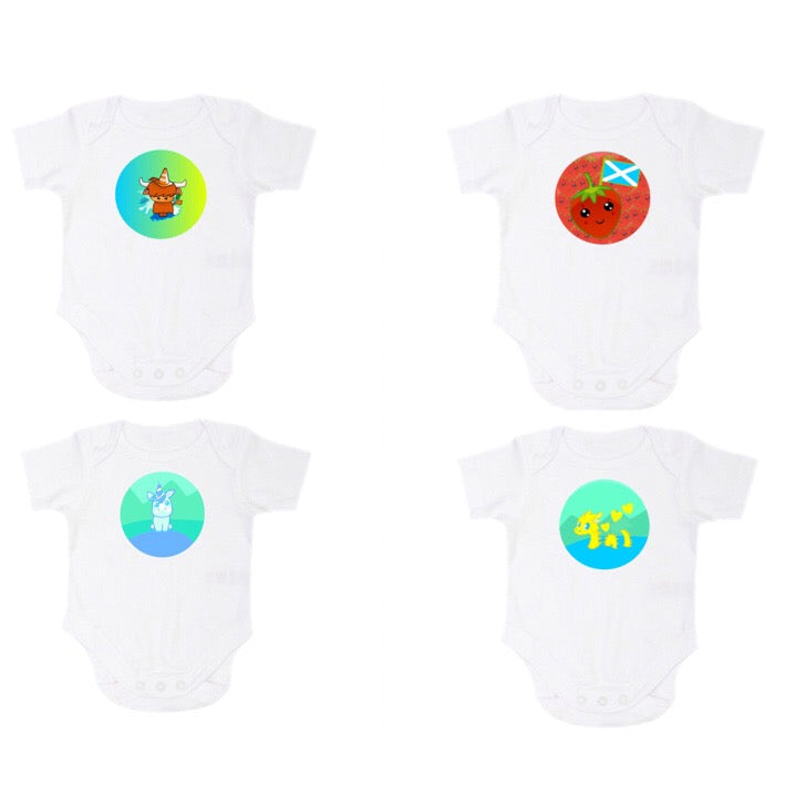 Babygrow/Onesie With Kids Designs by Defiaye