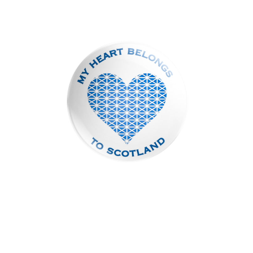 My Heart Belongs to Scotland 59mm size, choose badge or magnet
