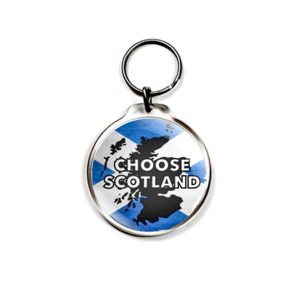 Choose Scotland Keychain with choice of charm