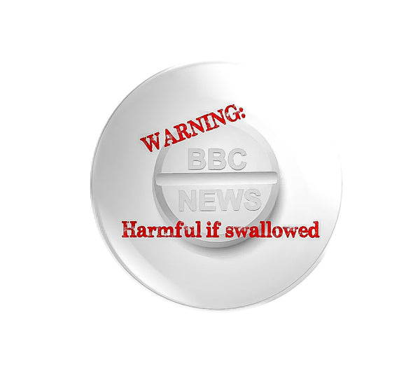 59mm size BBC NEWS WARNING: Harmful if swallowed