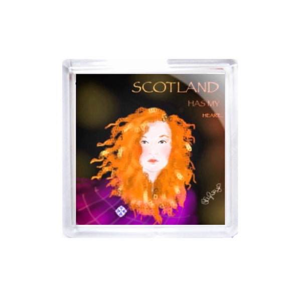 Square Acrylic Coaster Set - Scotland is in my Heart by Raiph