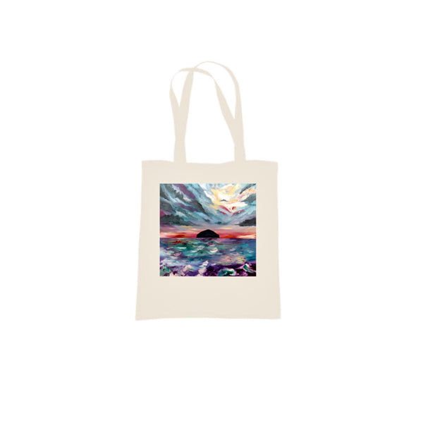 Ailsa Craig design by DefiAye Tote Bag