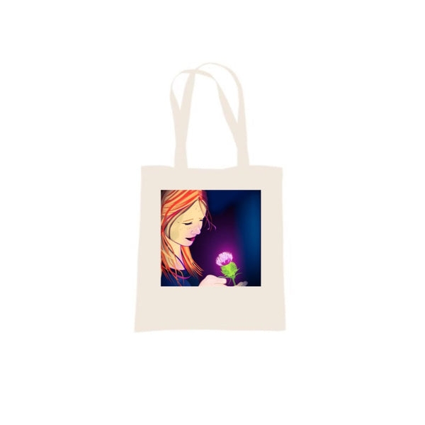 Girl With Thistle design by DefiAye Tote Bag