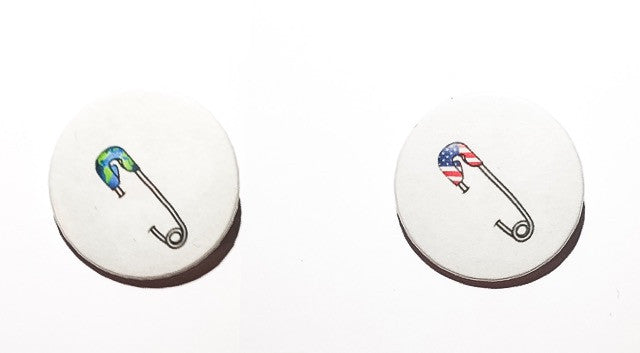 Solidarity Safety Pin in 6 designs 59mm size