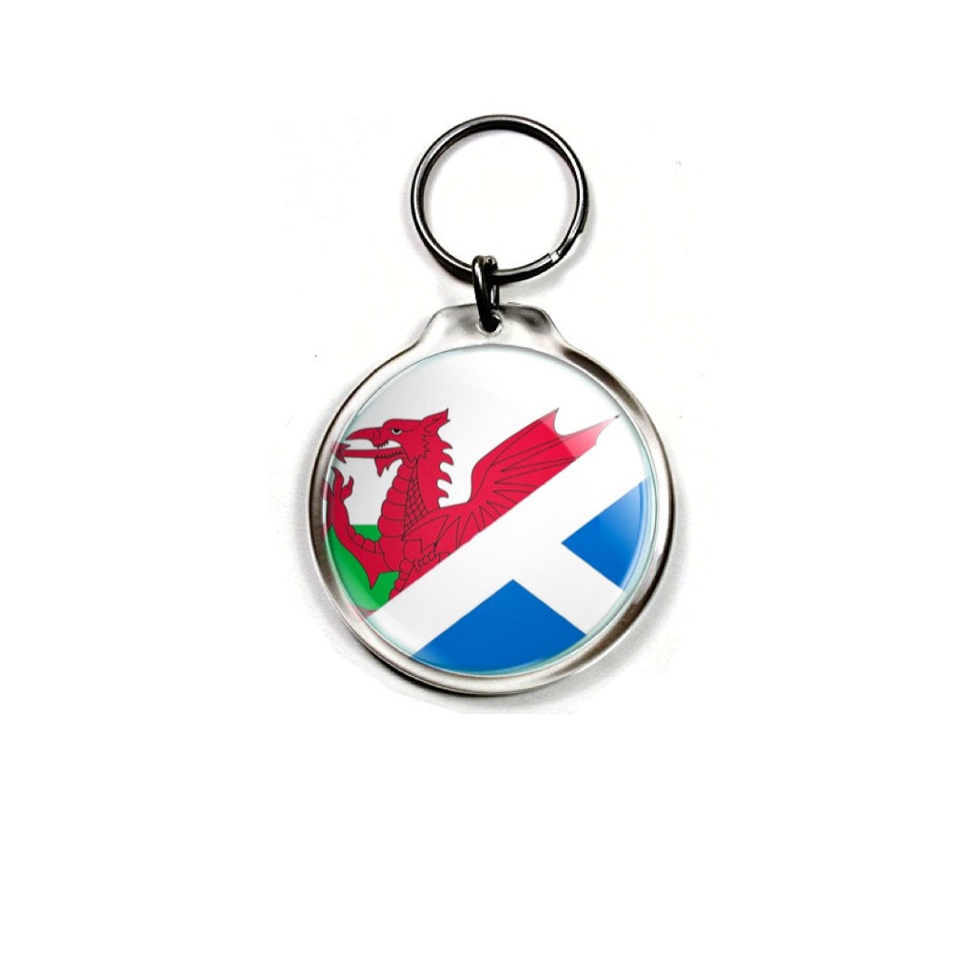 Solidarity with Wales Keychain