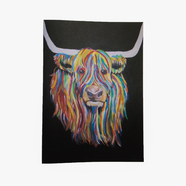 Rainbow Coo A5 Notecard and matching envelope by Brave Many/DefiAye