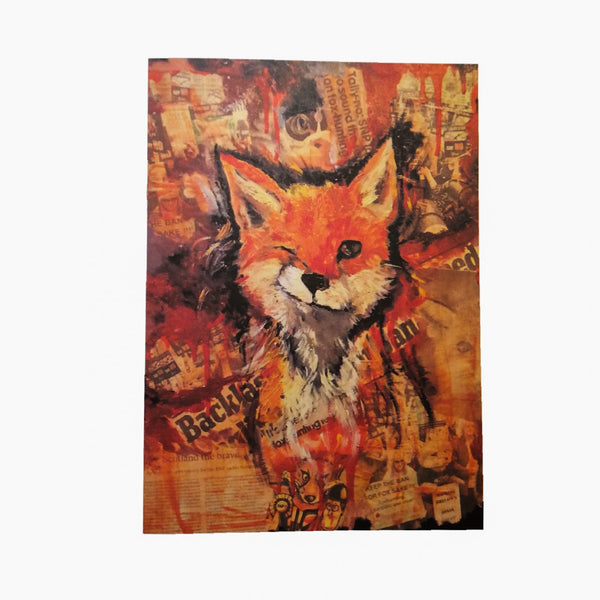 Foxy A5 Notecard and matching envelope by Brave Many/DefiAye