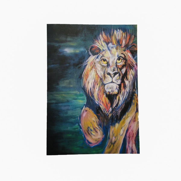 Lion A5 Notecard and matching envelope by Brave Many/DefiAye