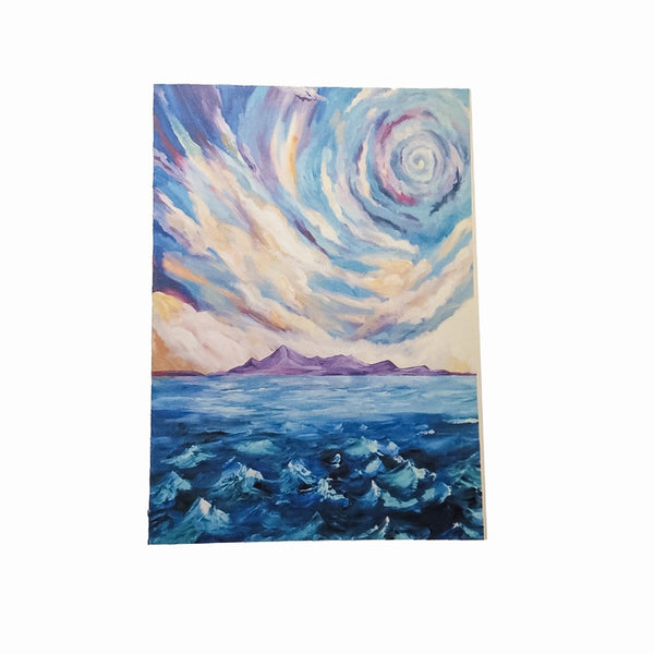 Swirl Sky A5 Notecard and matching envelope by Brave Many/DefiAye