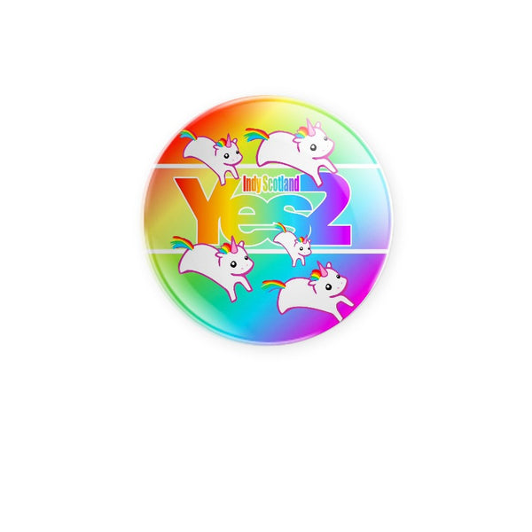 Brave Yes2 Rainbow Unicorns 59mm choose badge or magnet