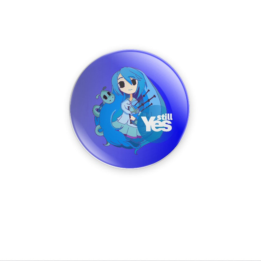 Brave Indy Girl Still Yes Blue 38mm Choose Badge or Magnet