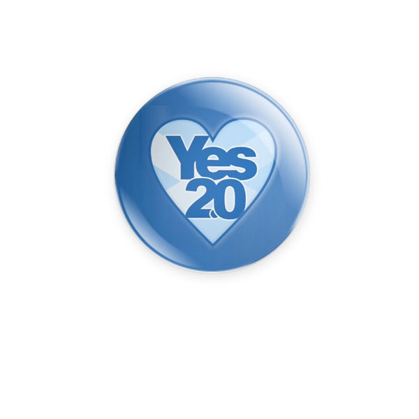 BraveMany Yes 2.0 Saltire Heart 59mm choose badge or magnet