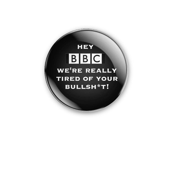 59mm design 'Hey BBC' Badge or Magnet