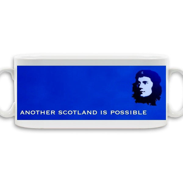 Mug with Robert Burns/Another Scotland is Possible design