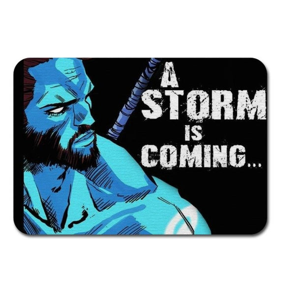Fabric Mouse Mat - Saltire Scotland's Superhero A Storm is Coming