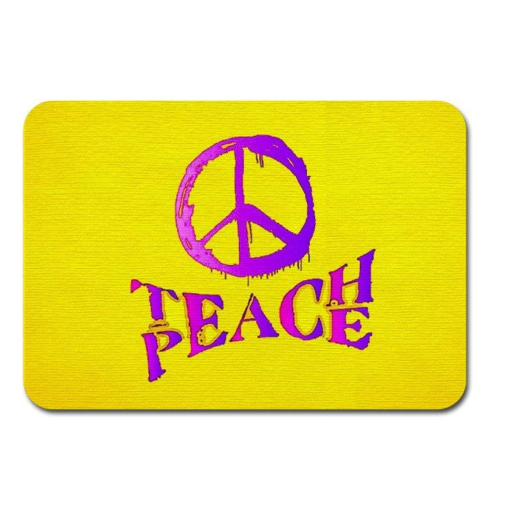 Fabric Mouse Mat Teach Peace - Designs by Brave Many