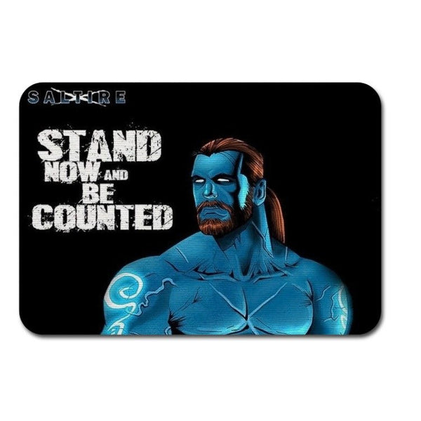 Fabric Mouse Mat - Saltire Scotland's Superhero Stand Now and Be Counted