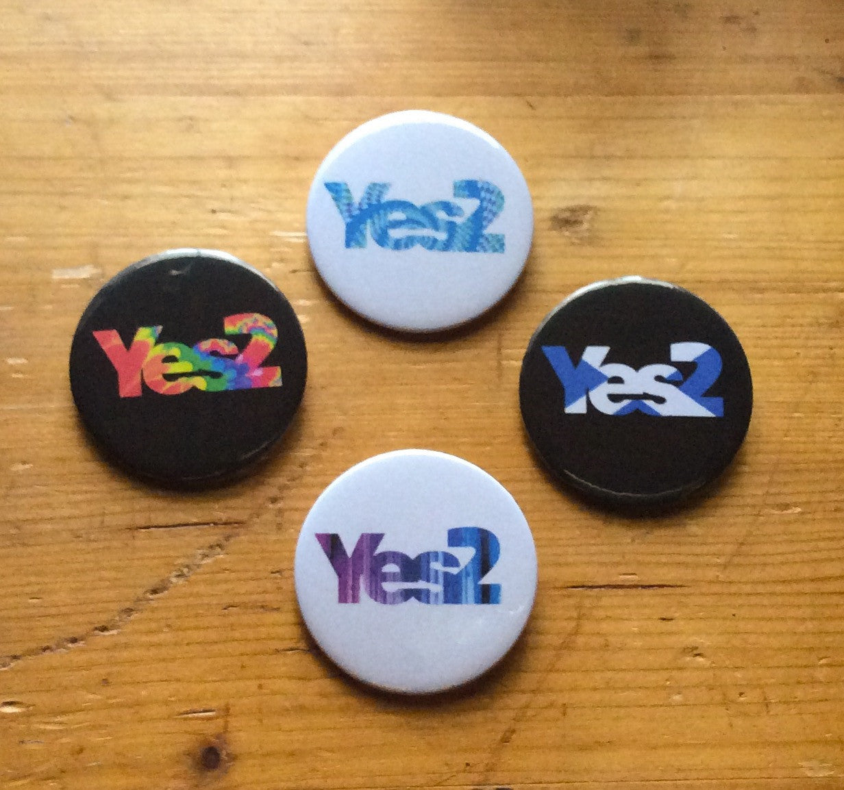 Yes2 59mm size badge or magnet 4 designs to choose from
