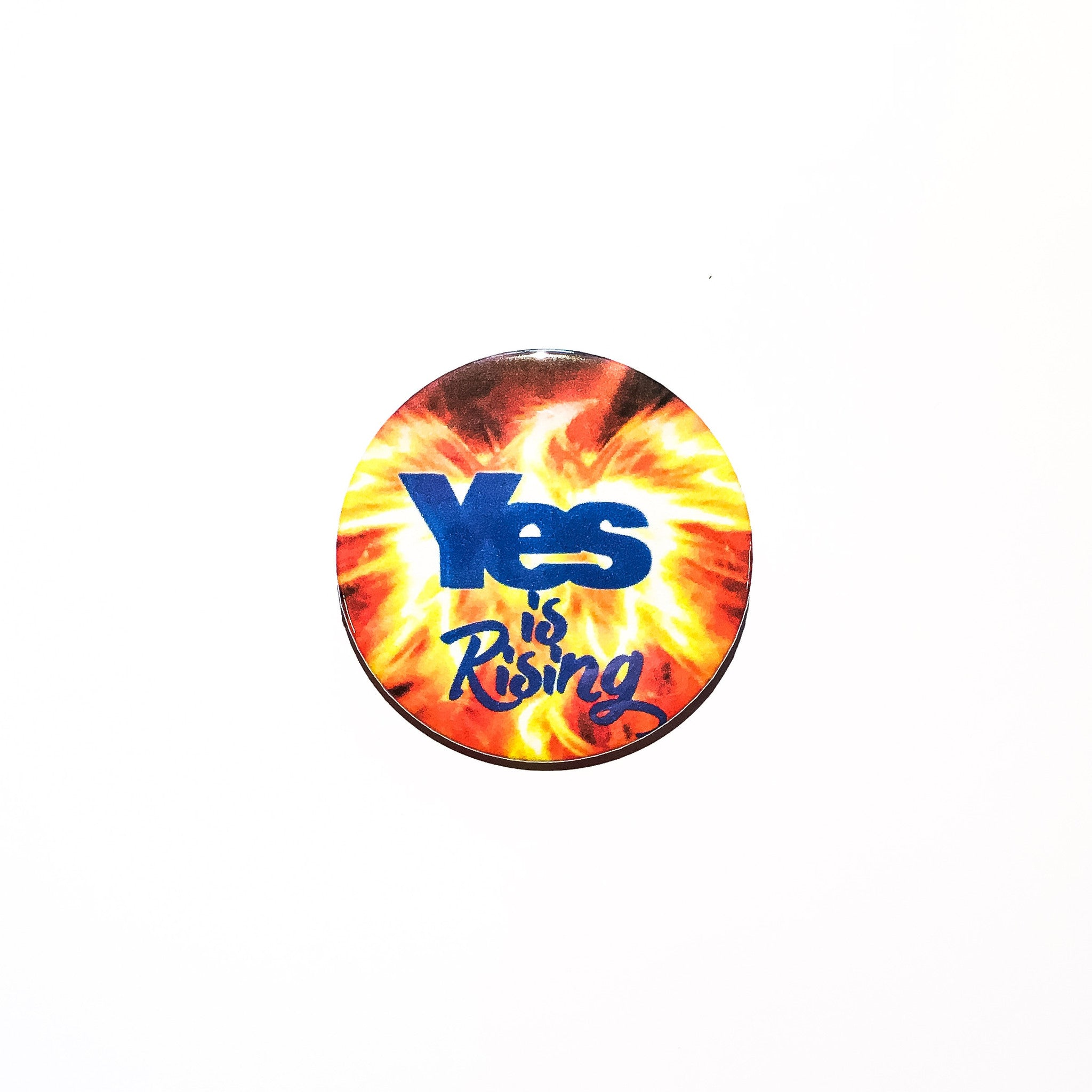 Yes is Rising 59mm size Badge or Magnet