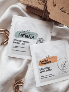 BBO MINI 30 DAY Deep Conditioning Set - Henna + Hibiscus Low Porosity (Growth)