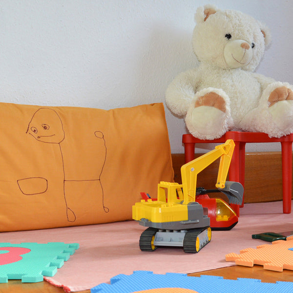 Cushion cover - children drawings
