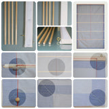 Roman blinds - Blue and white
